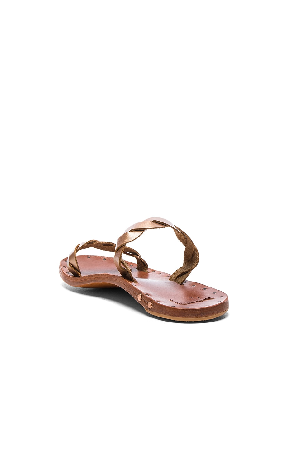Image 3 of Beek The Pipit Sandals in Rose Gold & Tan