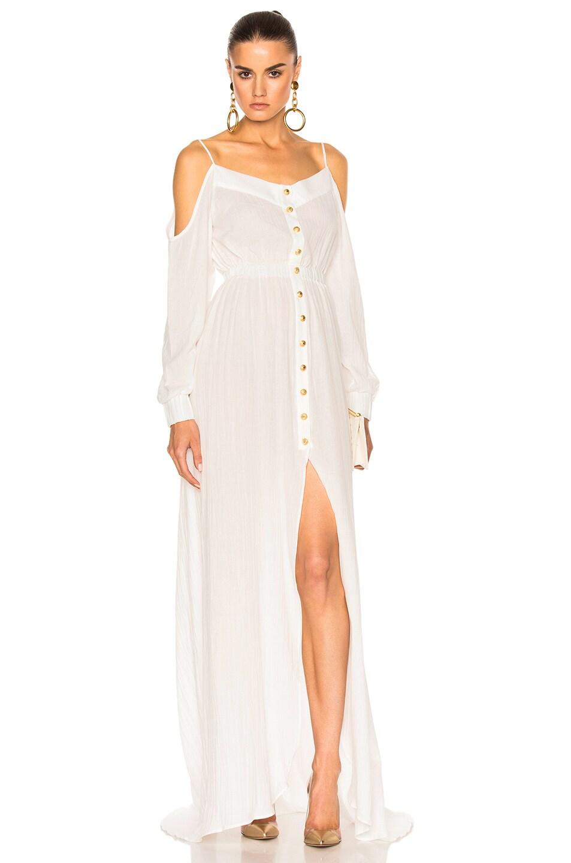 Image 1 of BALMAIN Maxi Dress in White