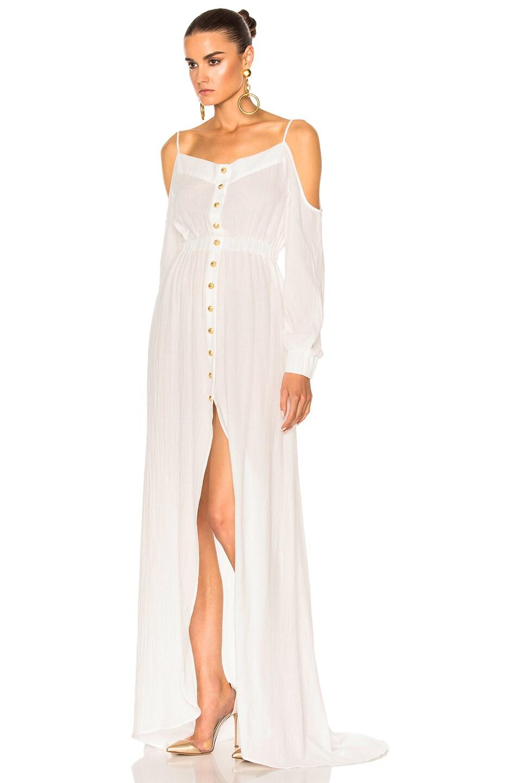 Image 2 of BALMAIN Maxi Dress in White