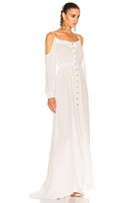 Image 3 of BALMAIN Maxi Dress in White