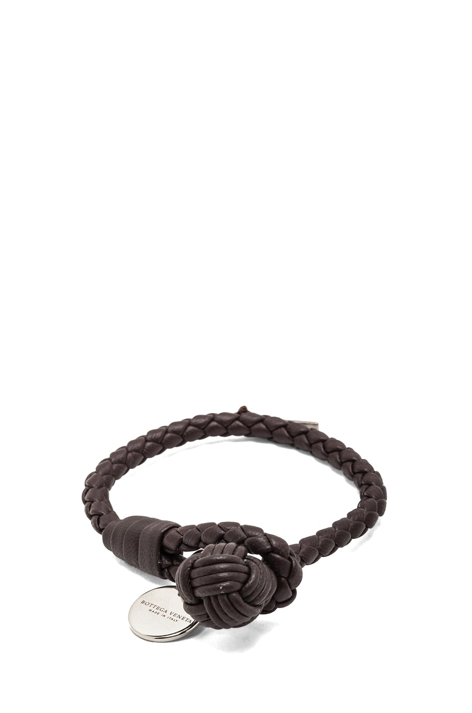 Image 1 of Bottega Veneta Nappa Leather Bracelet in Ebano
