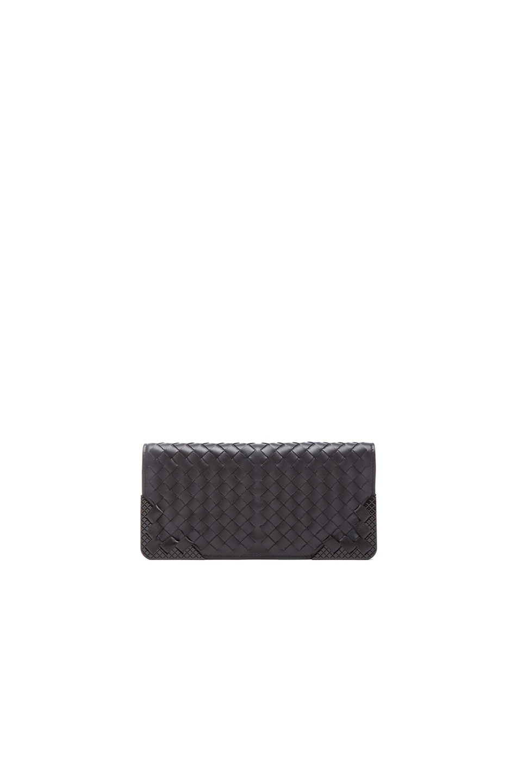 Image 1 of Bottega Veneta Flat Wallet in Black