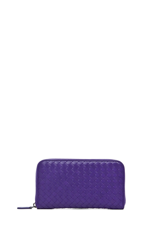 Image 1 of Bottega Veneta Zip Around Wallet in Violet