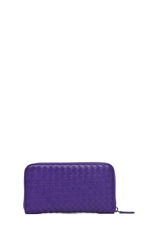 Image 2 of Bottega Veneta Zip Around Wallet in Violet