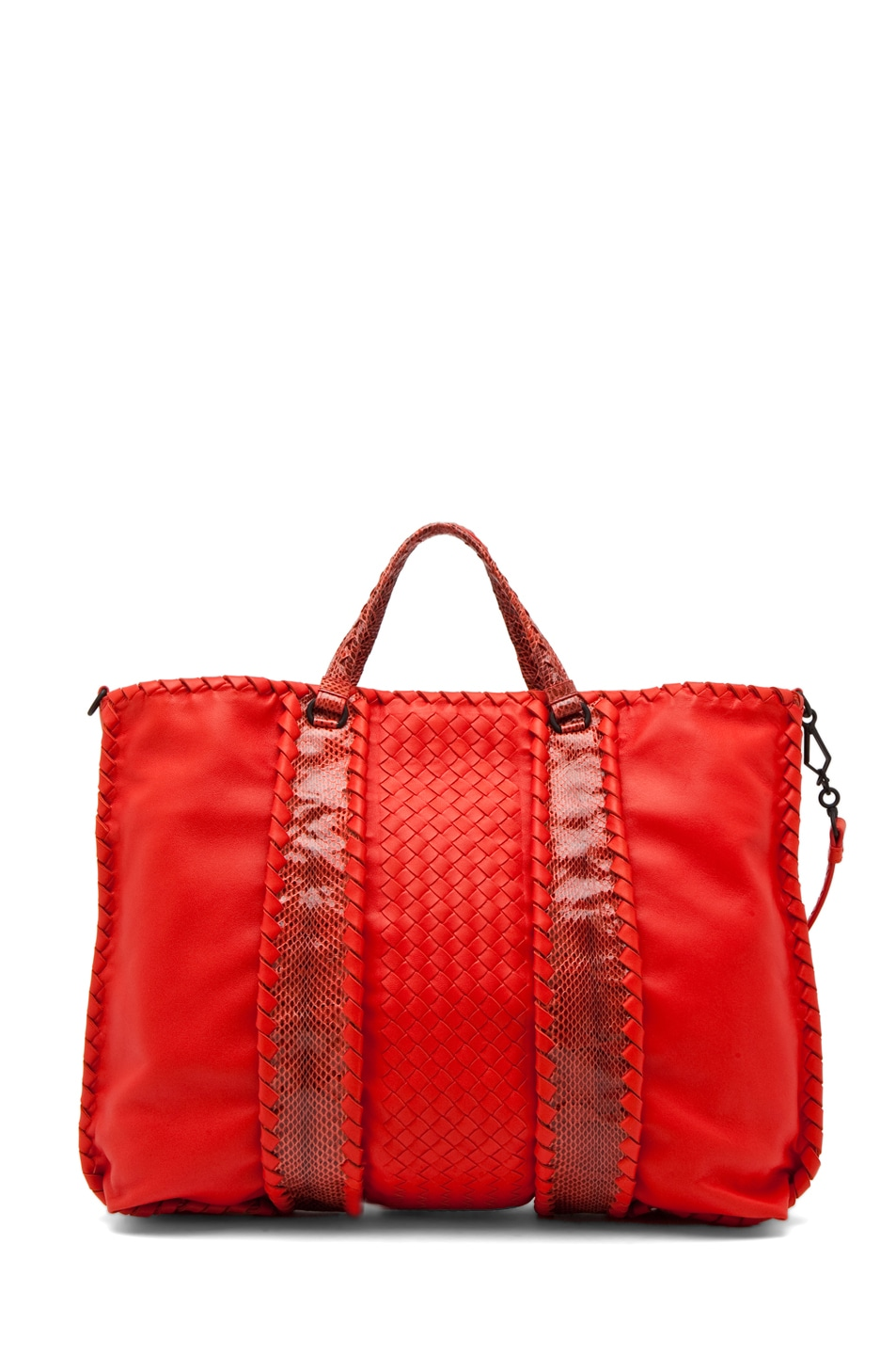 Image 2 of Bottega Veneta Nappa Ayers Shoulder Bag in Fire