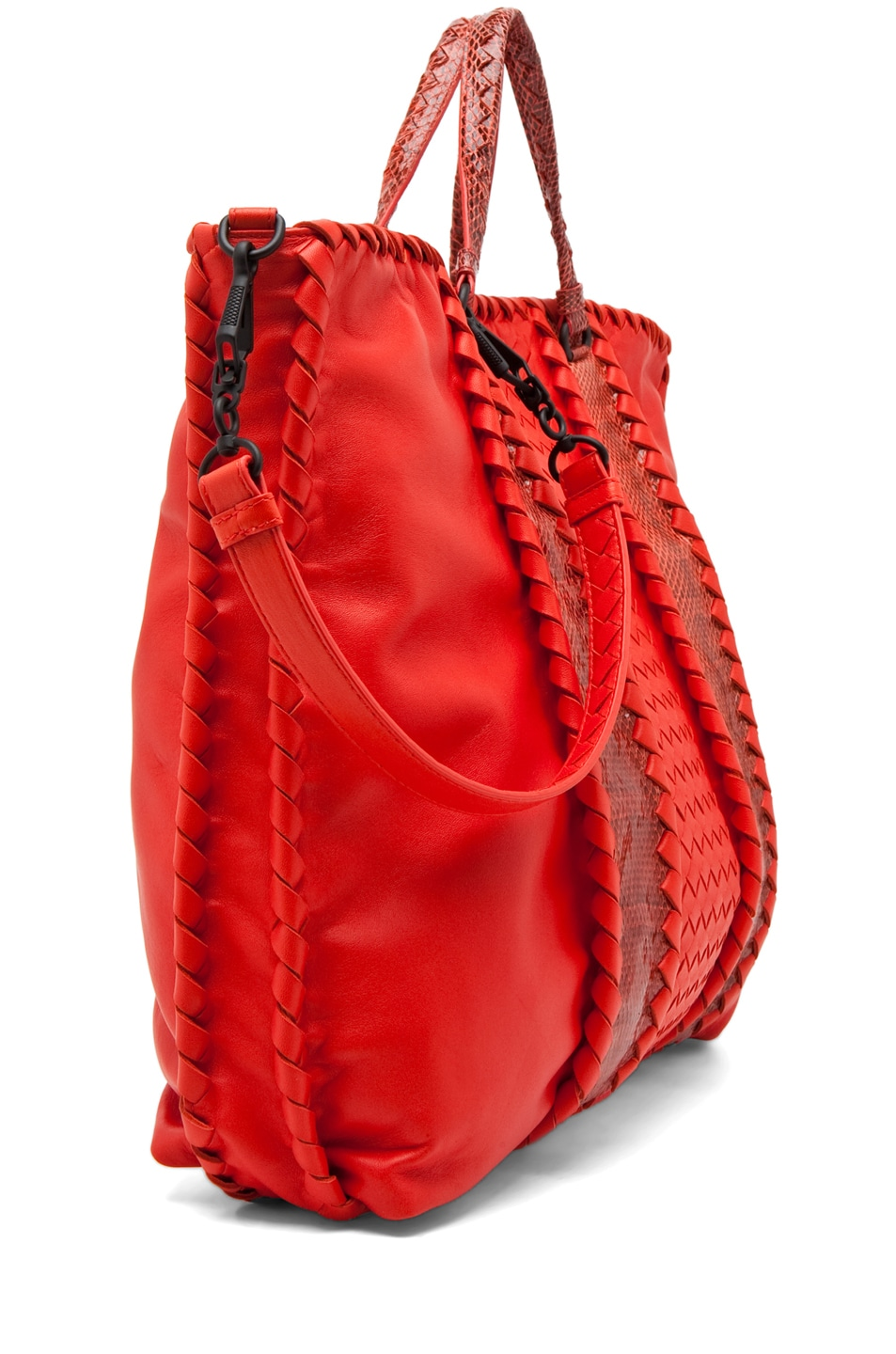 Image 3 of Bottega Veneta Nappa Ayers Shoulder Bag in Fire