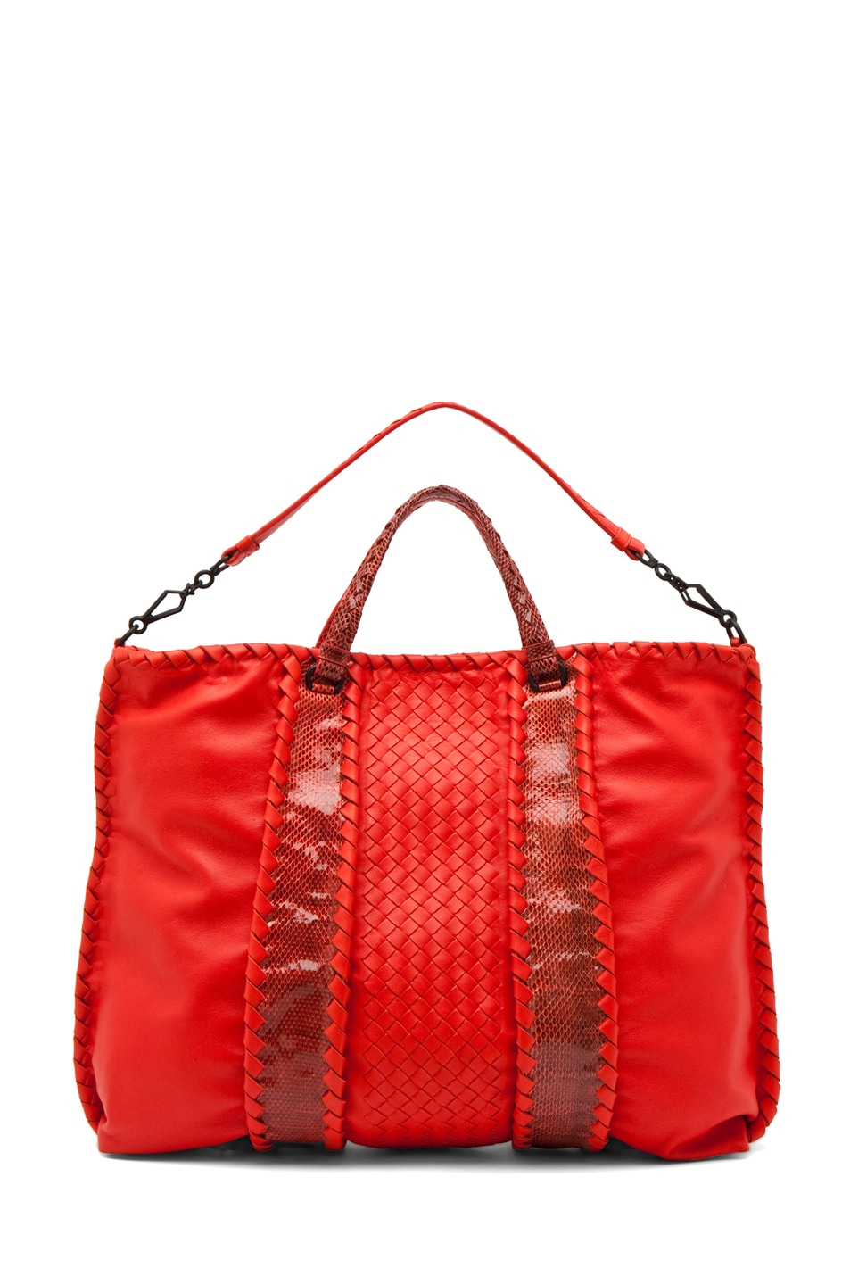 Image 5 of Bottega Veneta Nappa Ayers Shoulder Bag in Fire