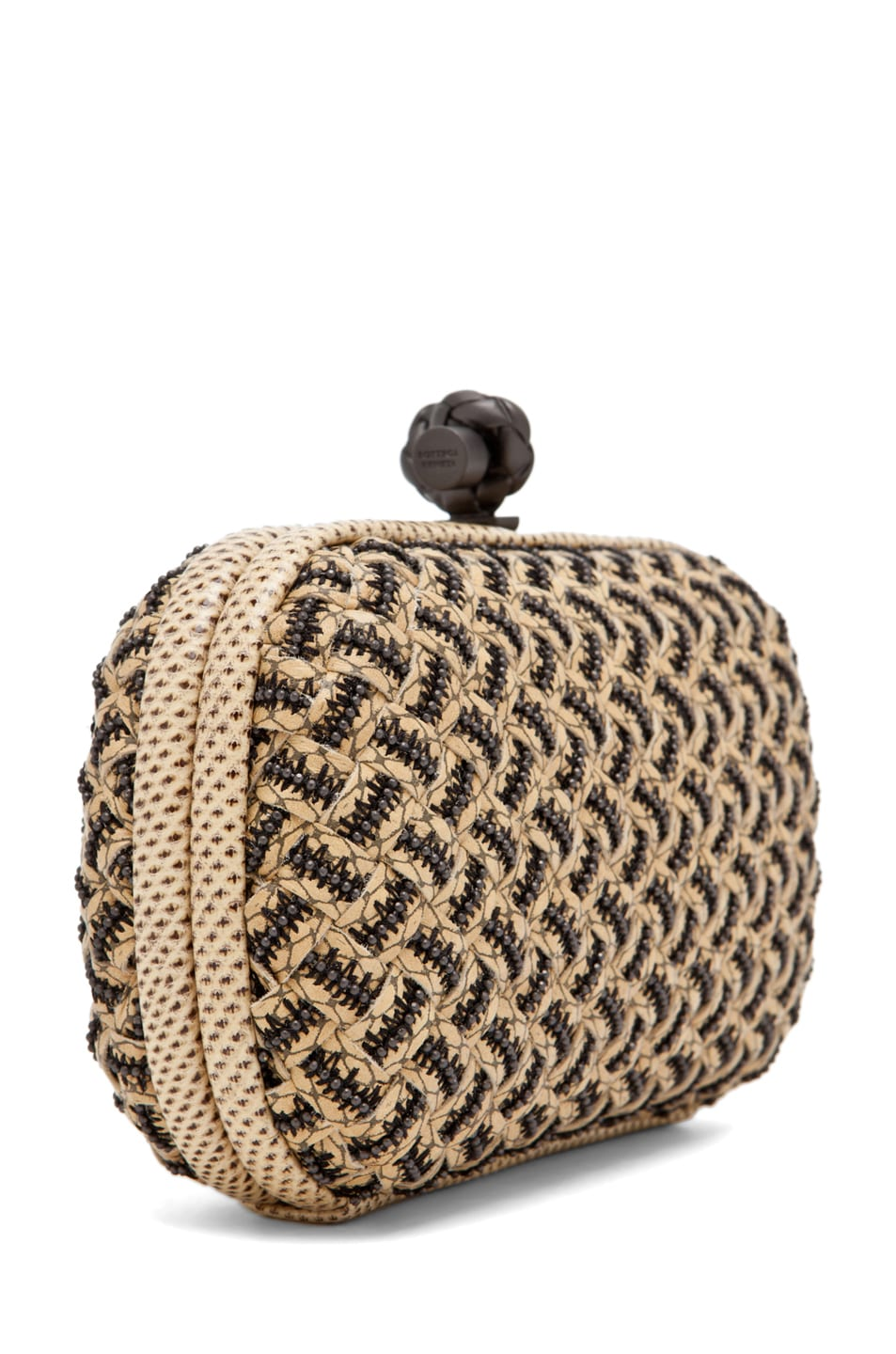 Image 3 of Bottega Veneta Box Clutch in Natural