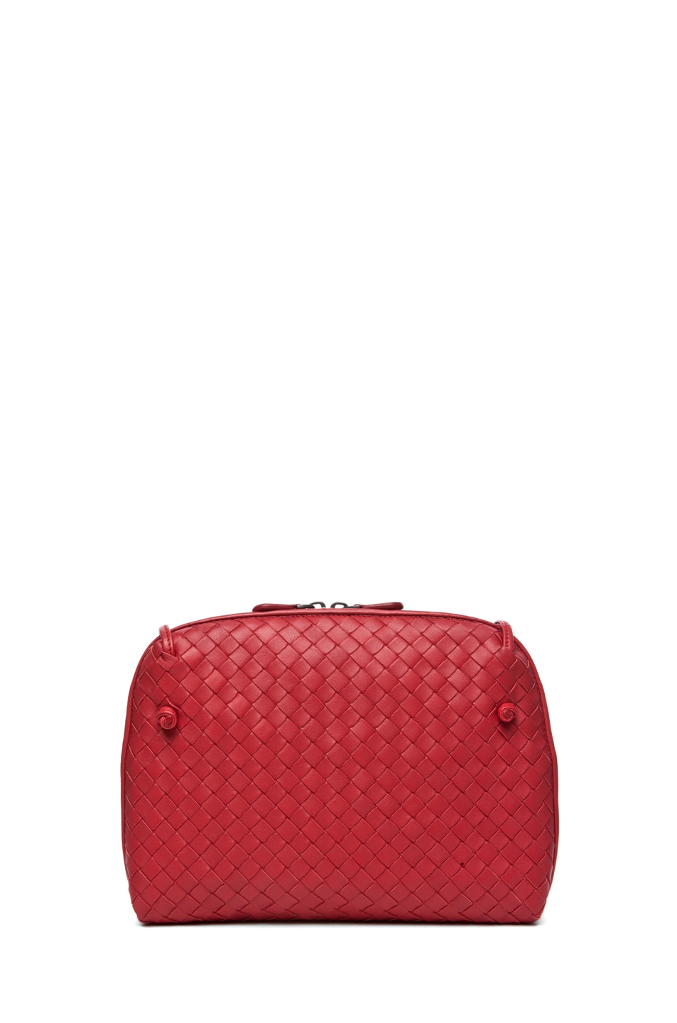 Image 2 of Bottega Veneta Small Messenger Bag in Blood