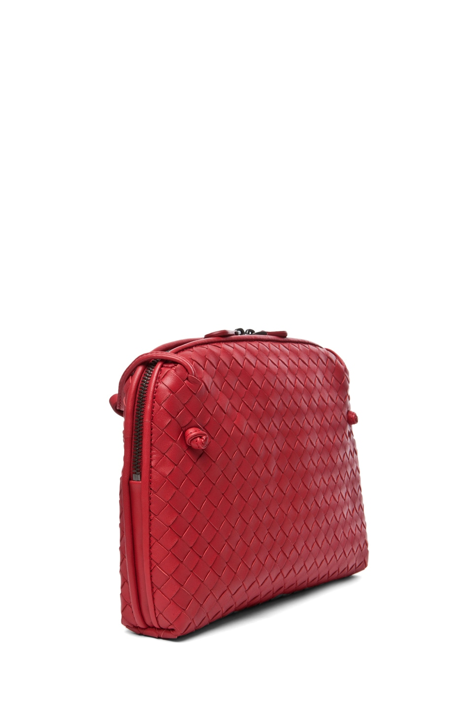 Image 3 of Bottega Veneta Small Messenger Bag in Blood
