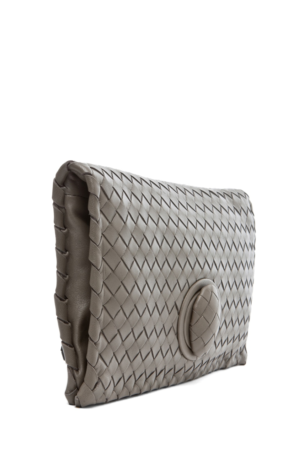 Image 3 of Bottega Veneta Small Clutch in Grey