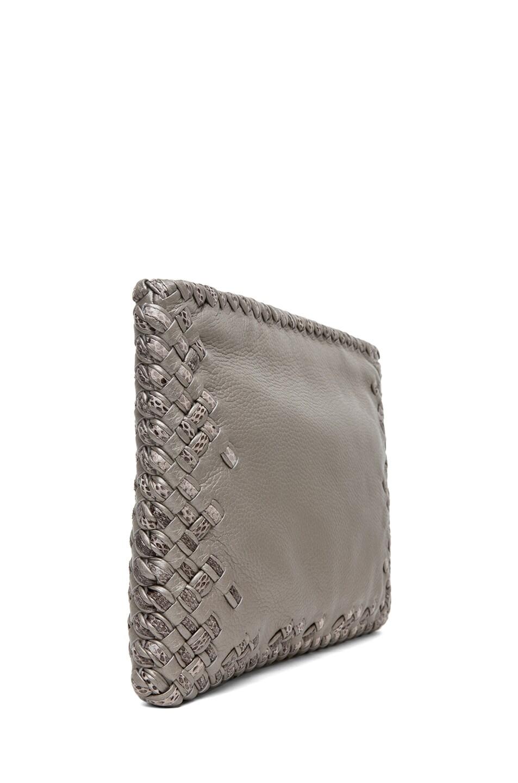 Image 3 of Bottega Veneta Ayers Livrea Spring Frame Clutch in Silver