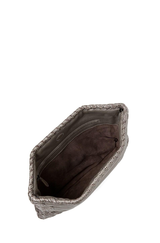Image 4 of Bottega Veneta Ayers Livrea Spring Frame Clutch in Silver
