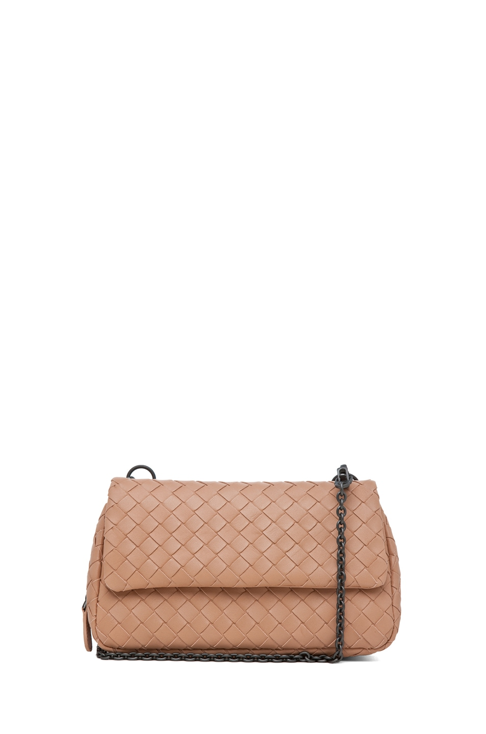 Image 1 of Bottega Veneta Chain Strap Messenger Bag in Nude