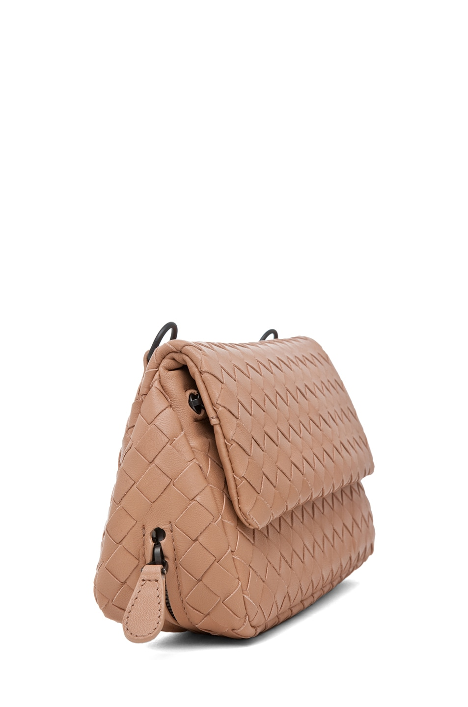 Image 3 of Bottega Veneta Chain Strap Messenger Bag in Nude