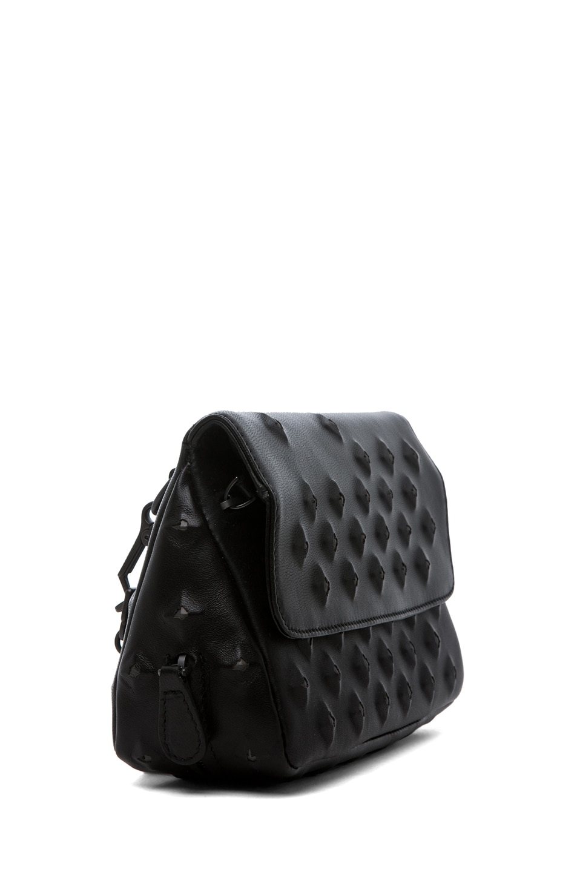 Image 3 of Bottega Veneta Nappa Stud Messenger Bag in Black