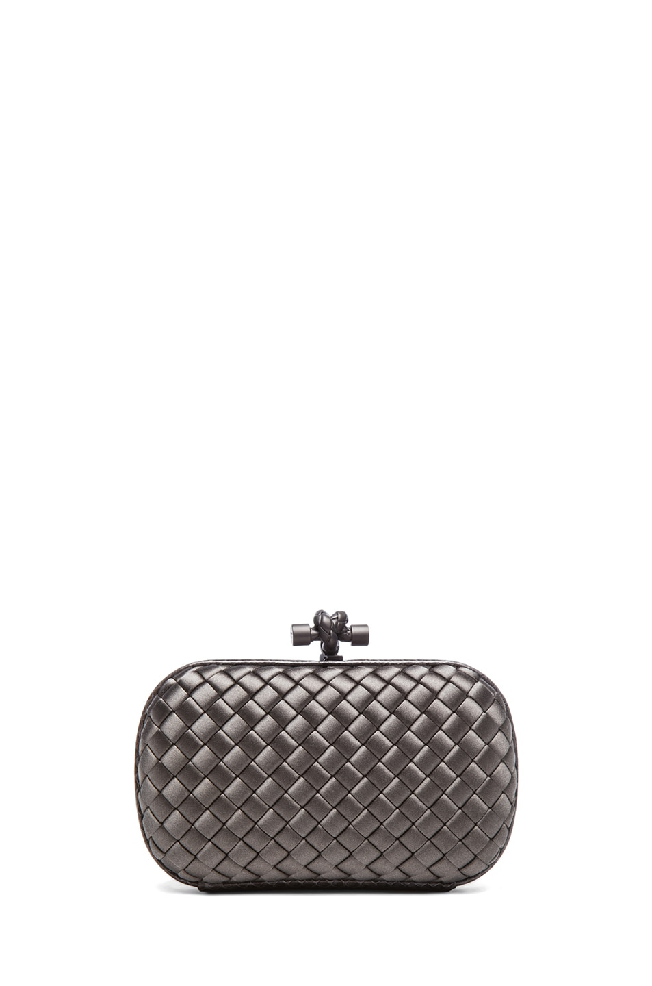 Image 1 of Bottega Veneta Ayers Livrea Knot Clutch in Steel