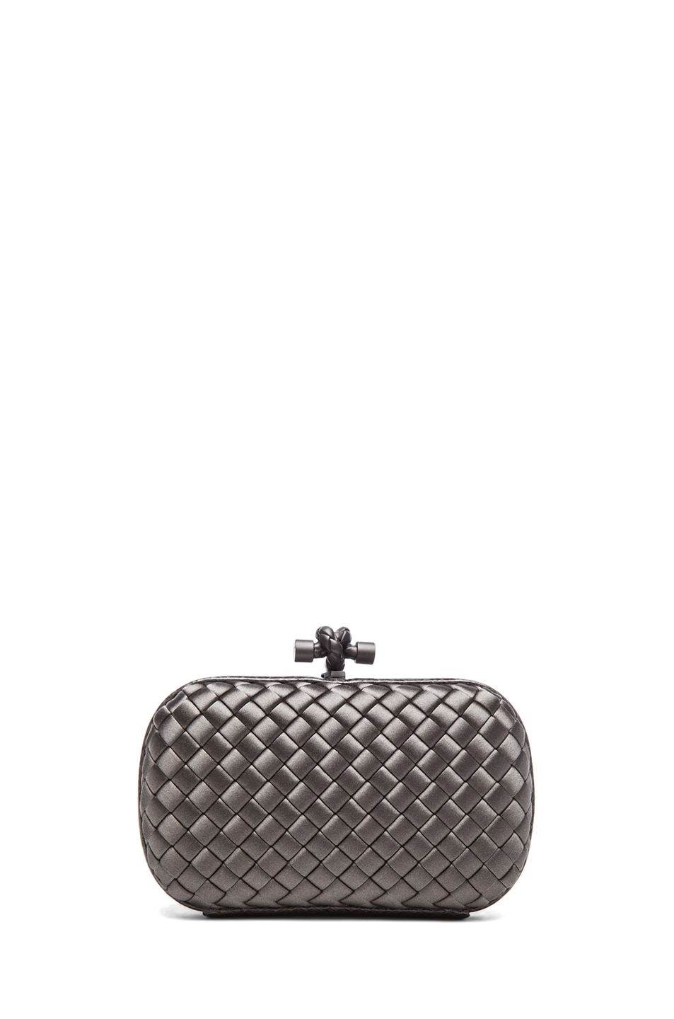 Image 2 of Bottega Veneta Ayers Livrea Knot Clutch in Steel