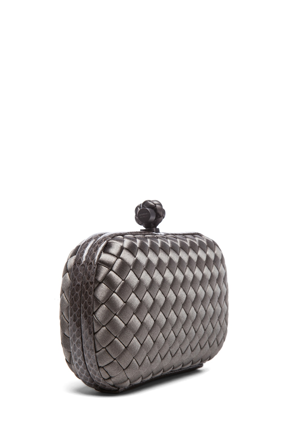 Image 3 of Bottega Veneta Ayers Livrea Knot Clutch in Steel