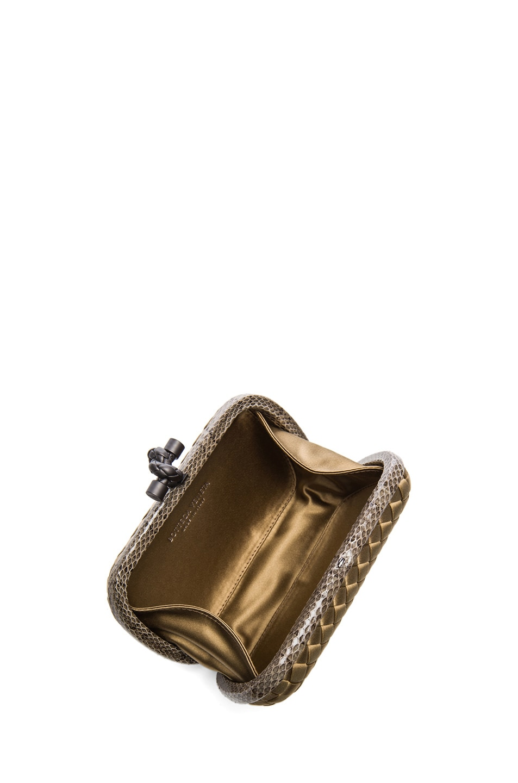 Image 4 of Bottega Veneta Knot Clutch in Bronze