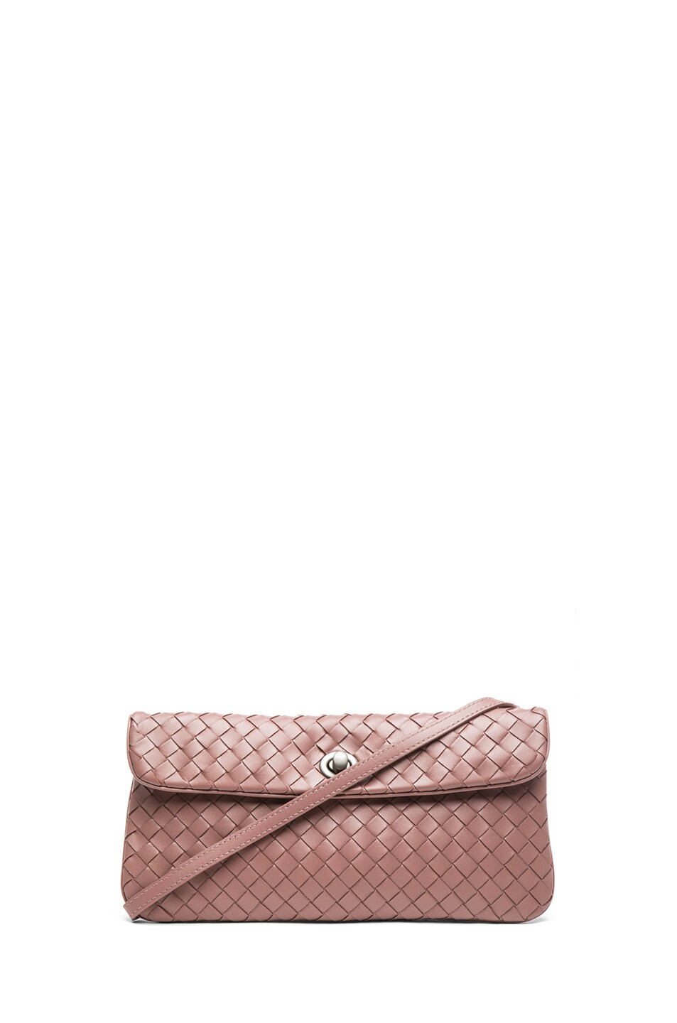 Image 1 of Bottega Veneta Mini Messenger Bag in Mauve