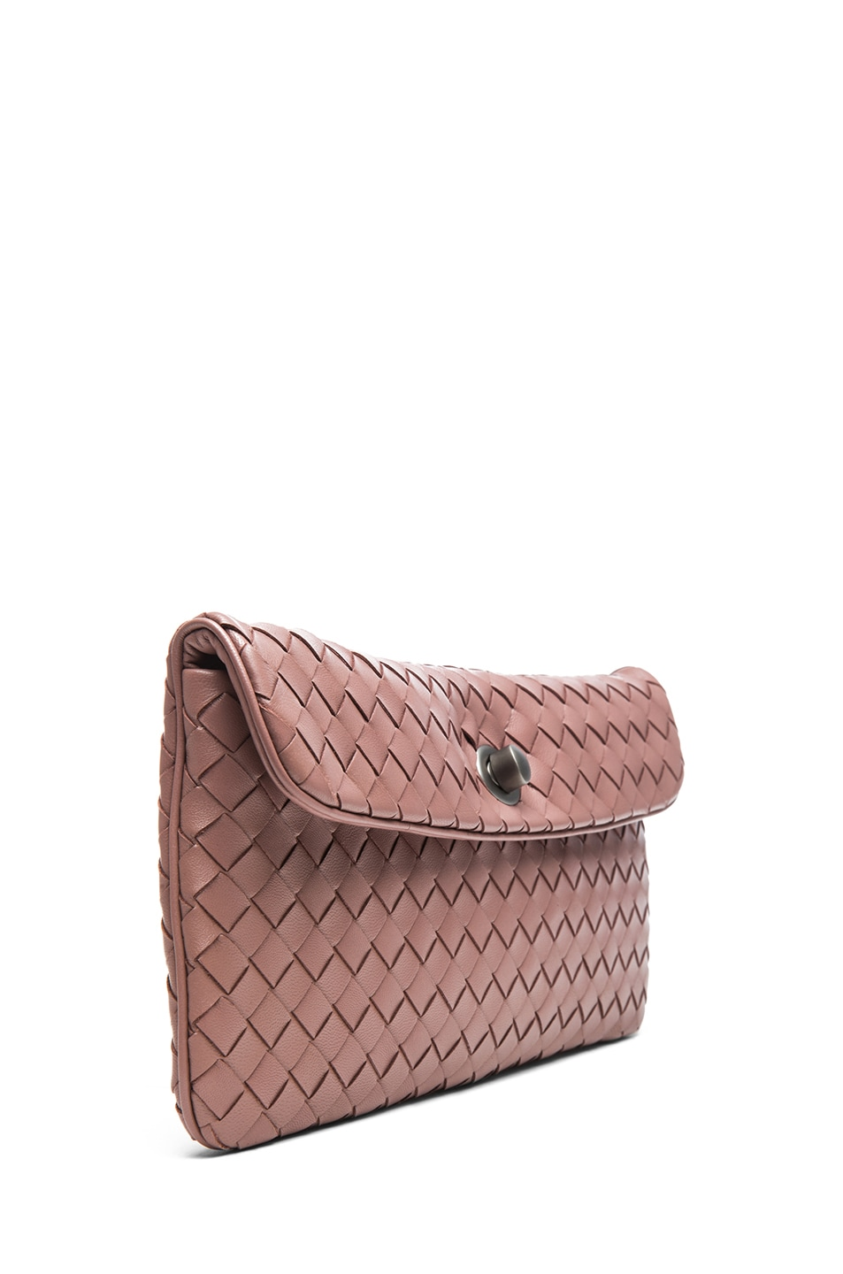 Image 3 of Bottega Veneta Mini Messenger Bag in Mauve