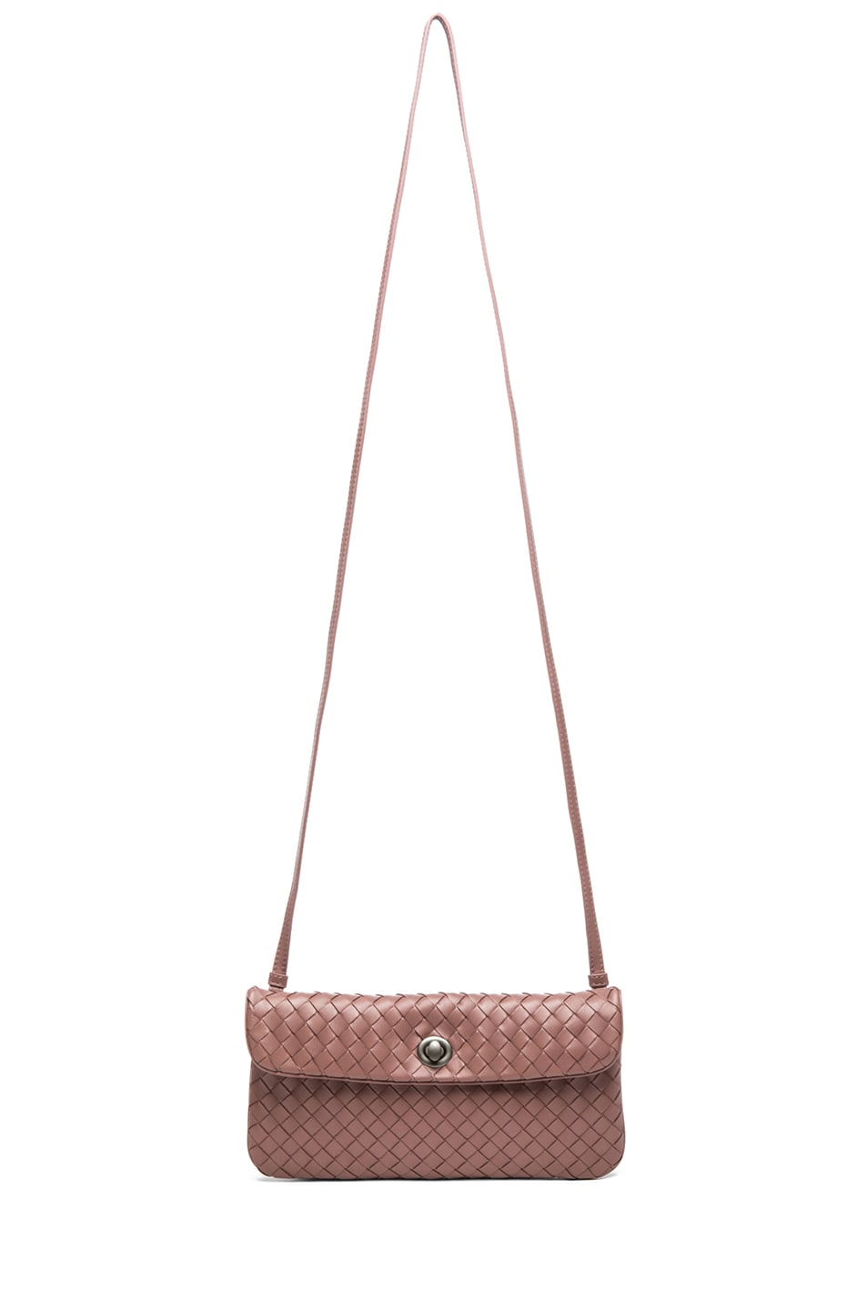 Image 5 of Bottega Veneta Mini Messenger Bag in Mauve