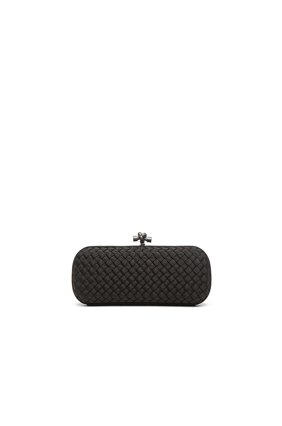 Image 1 of Bottega Veneta Long Knot Clutch in Black