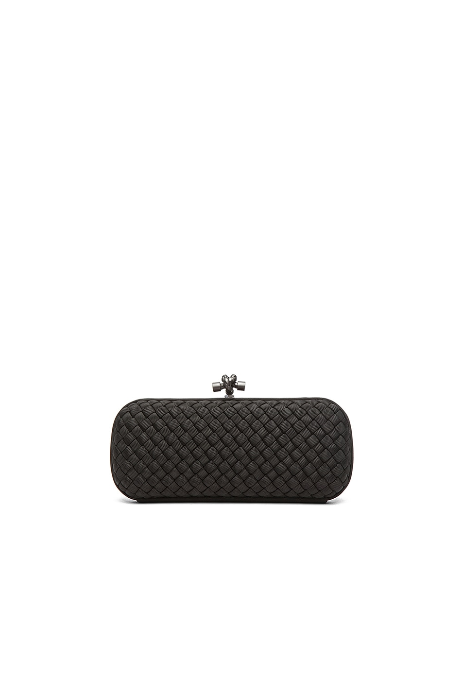 Image 3 of Bottega Veneta Long Knot Clutch in Black