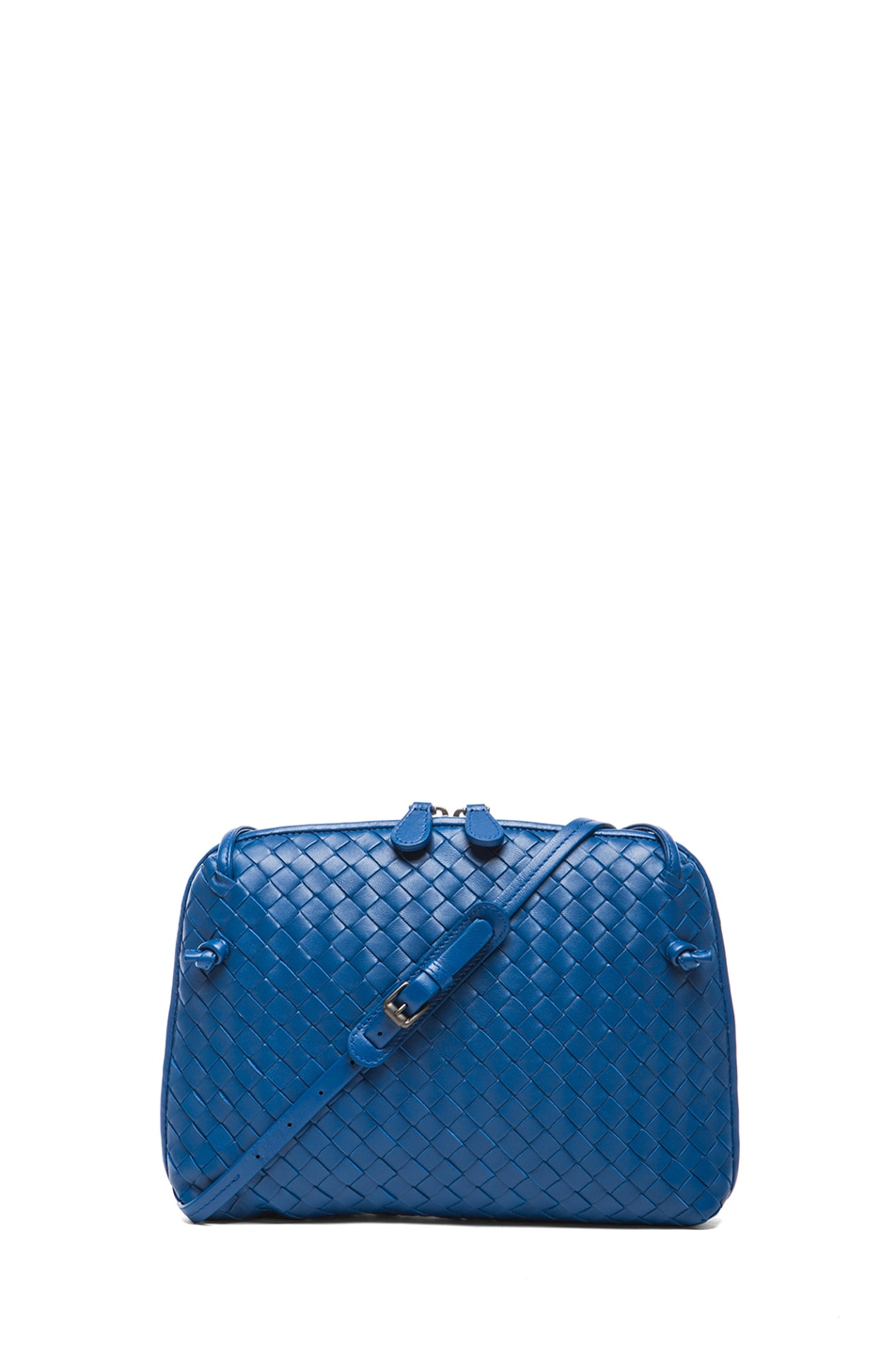 Image 1 of Bottega Veneta Intrecciato Nappa Cross Body Bag in Electrique