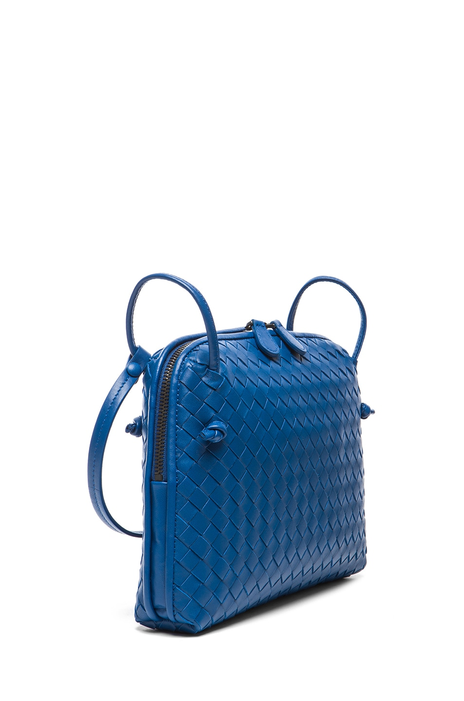 Image 3 of Bottega Veneta Intrecciato Nappa Cross Body Bag in Electrique