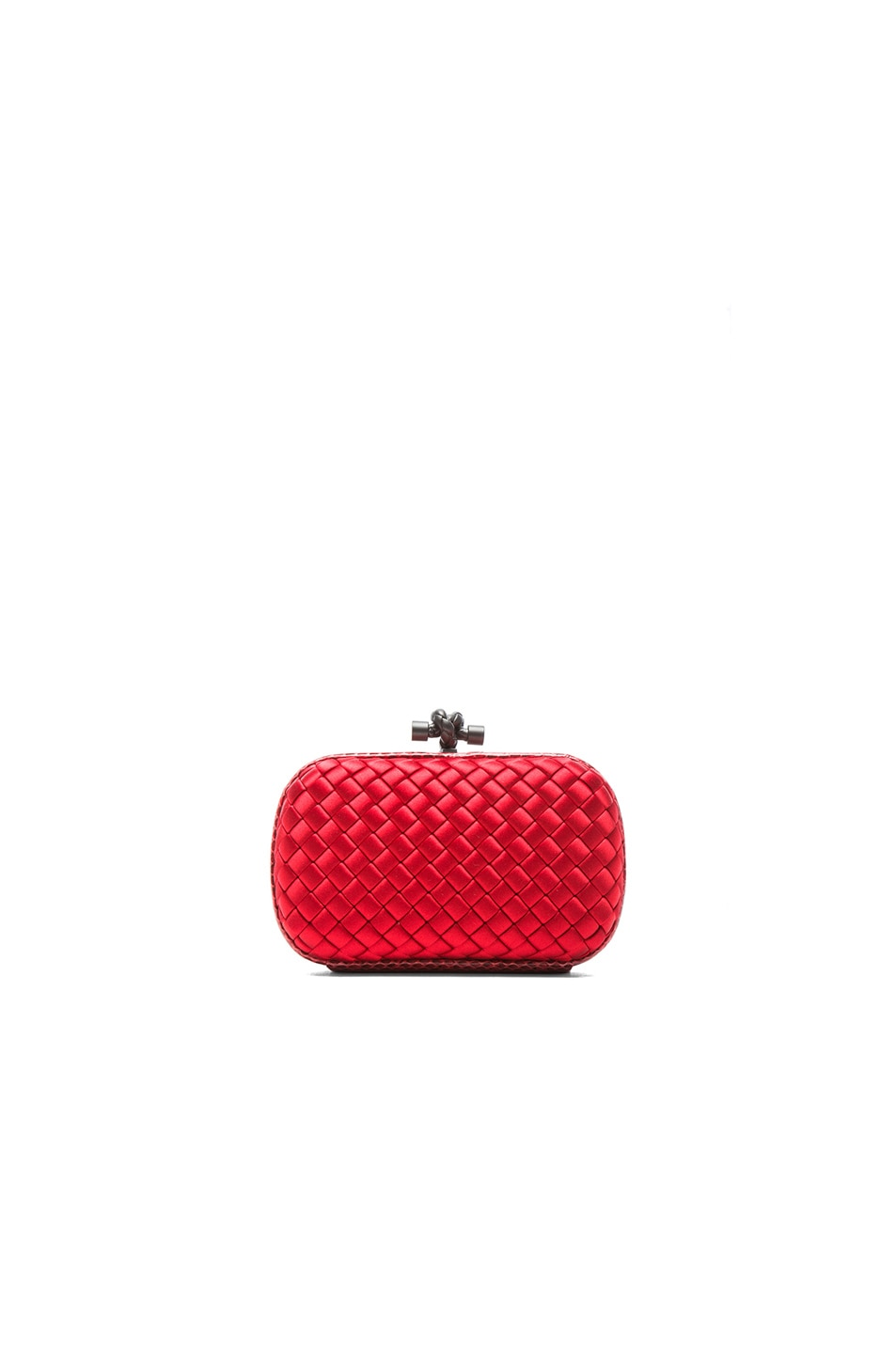 Image 1 of Bottega Veneta Ayers Livrea Knot Clutch in New Red