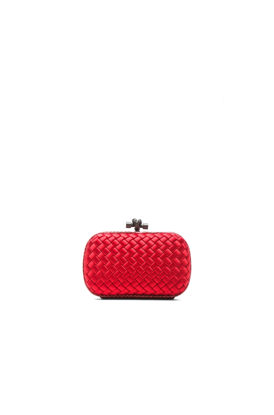 Image 3 of Bottega Veneta Ayers Livrea Knot Clutch in New Red