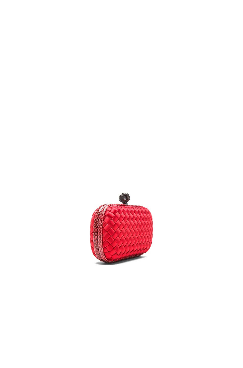 Image 4 of Bottega Veneta Ayers Livrea Knot Clutch in New Red