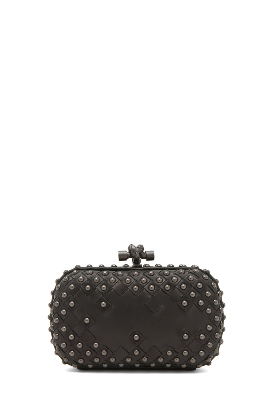 Image 1 of Bottega Veneta Waxy Mini Clutch in Nero