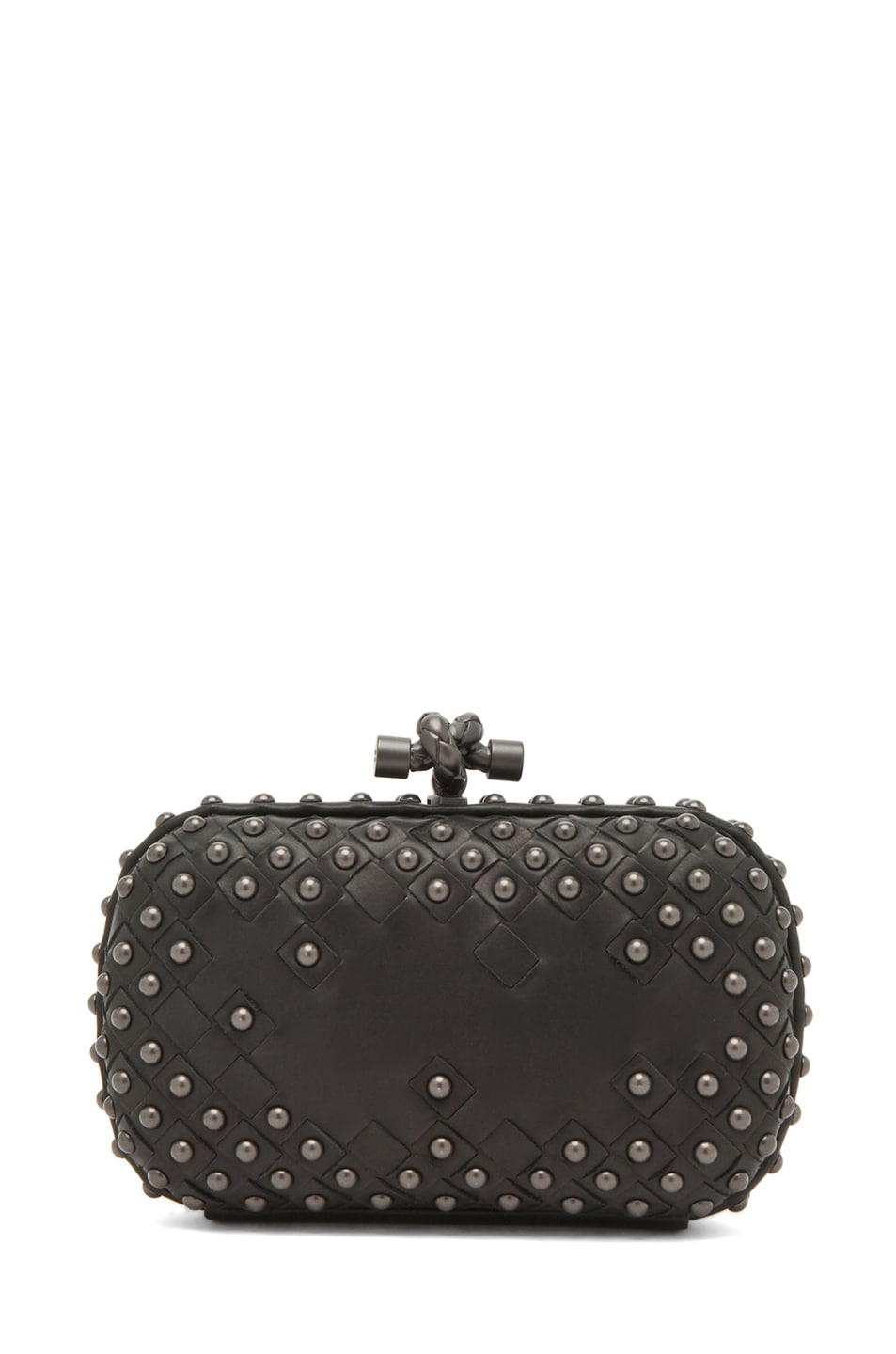 Image 2 of Bottega Veneta Waxy Mini Clutch in Nero