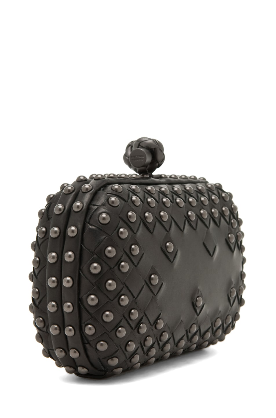 Image 3 of Bottega Veneta Waxy Mini Clutch in Nero