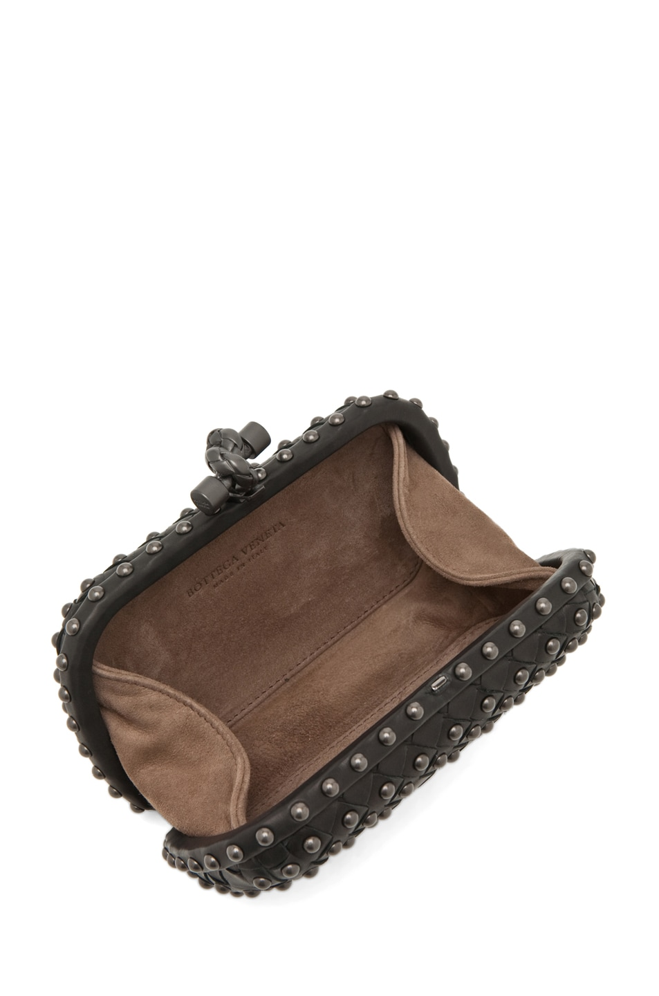 Image 4 of Bottega Veneta Waxy Mini Clutch in Nero