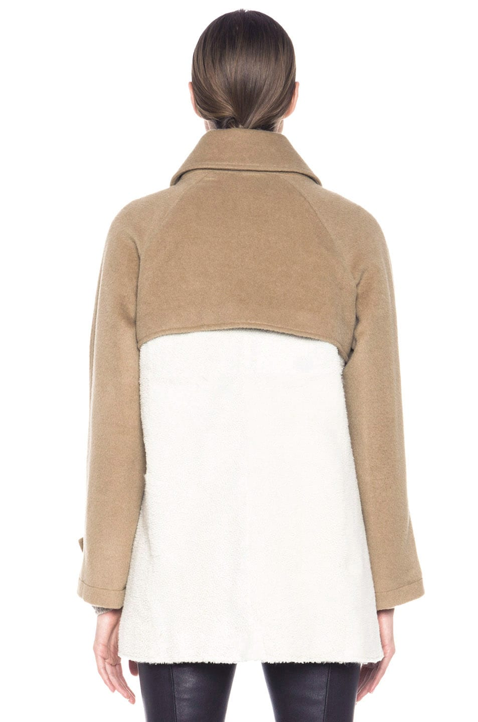 Image 5 of Boy. by Band of Outsiders Shearling Trench in Bone