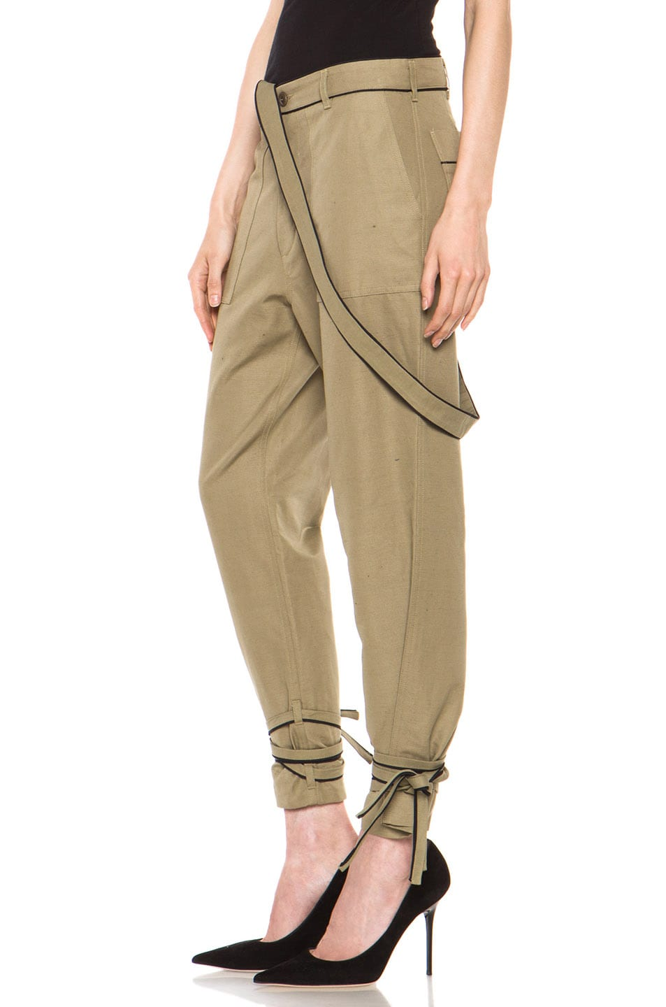 Image 2 of Boy. by Band of Outsiders Drape Military Pant in Green