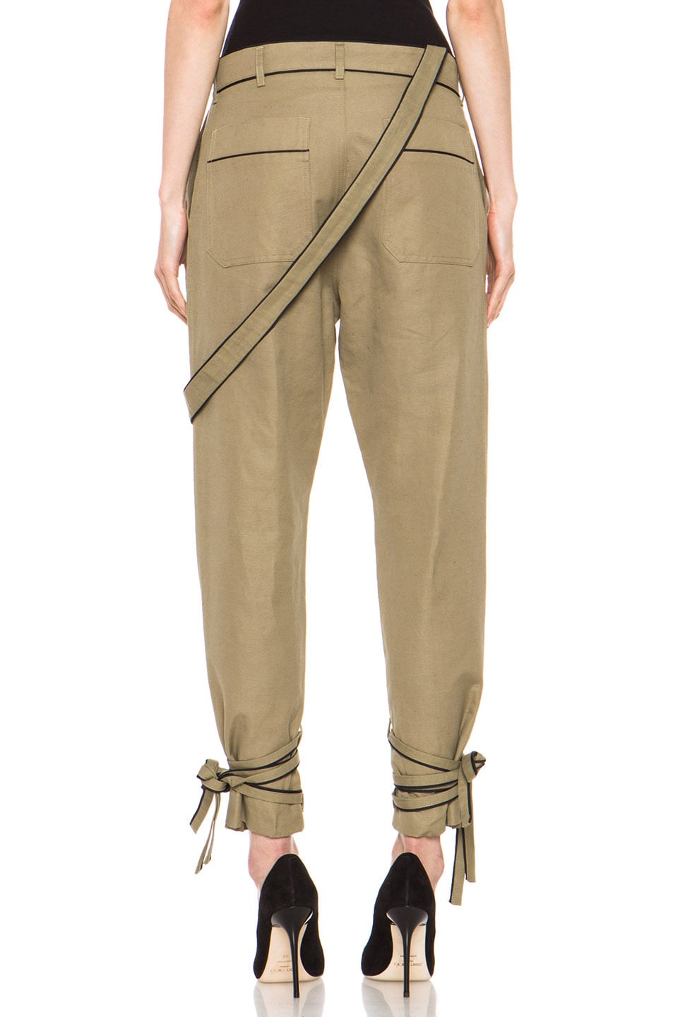 Image 4 of Boy. by Band of Outsiders Drape Military Pant in Green