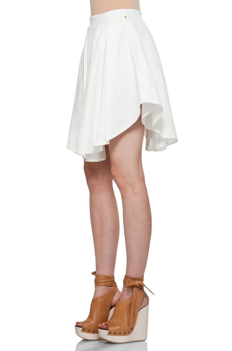 Image 2 of Boy. by Band of Outsiders Exploding Skirt in Ivory