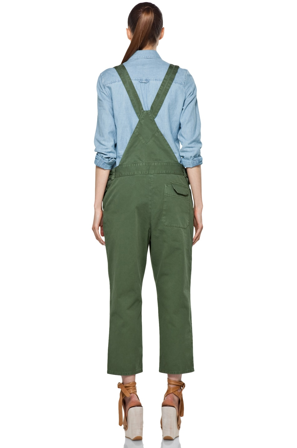 Image 4 of Boy. by Band of Outsiders Overalls in Verde