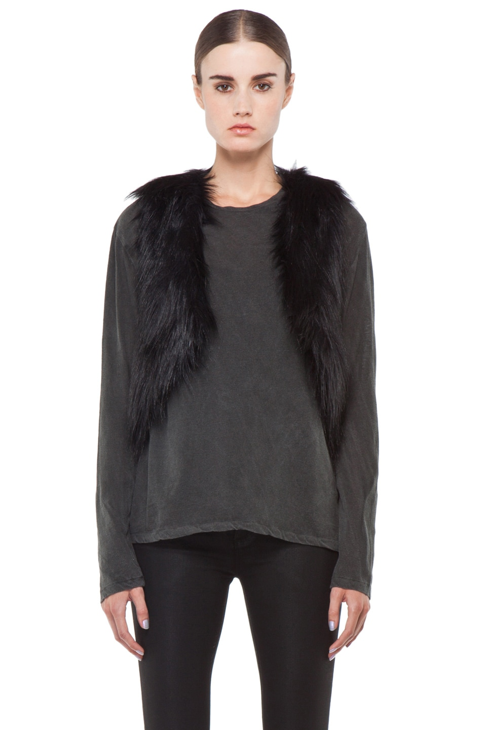 Image 2 of BSABLE Gina Vest in Black Fox