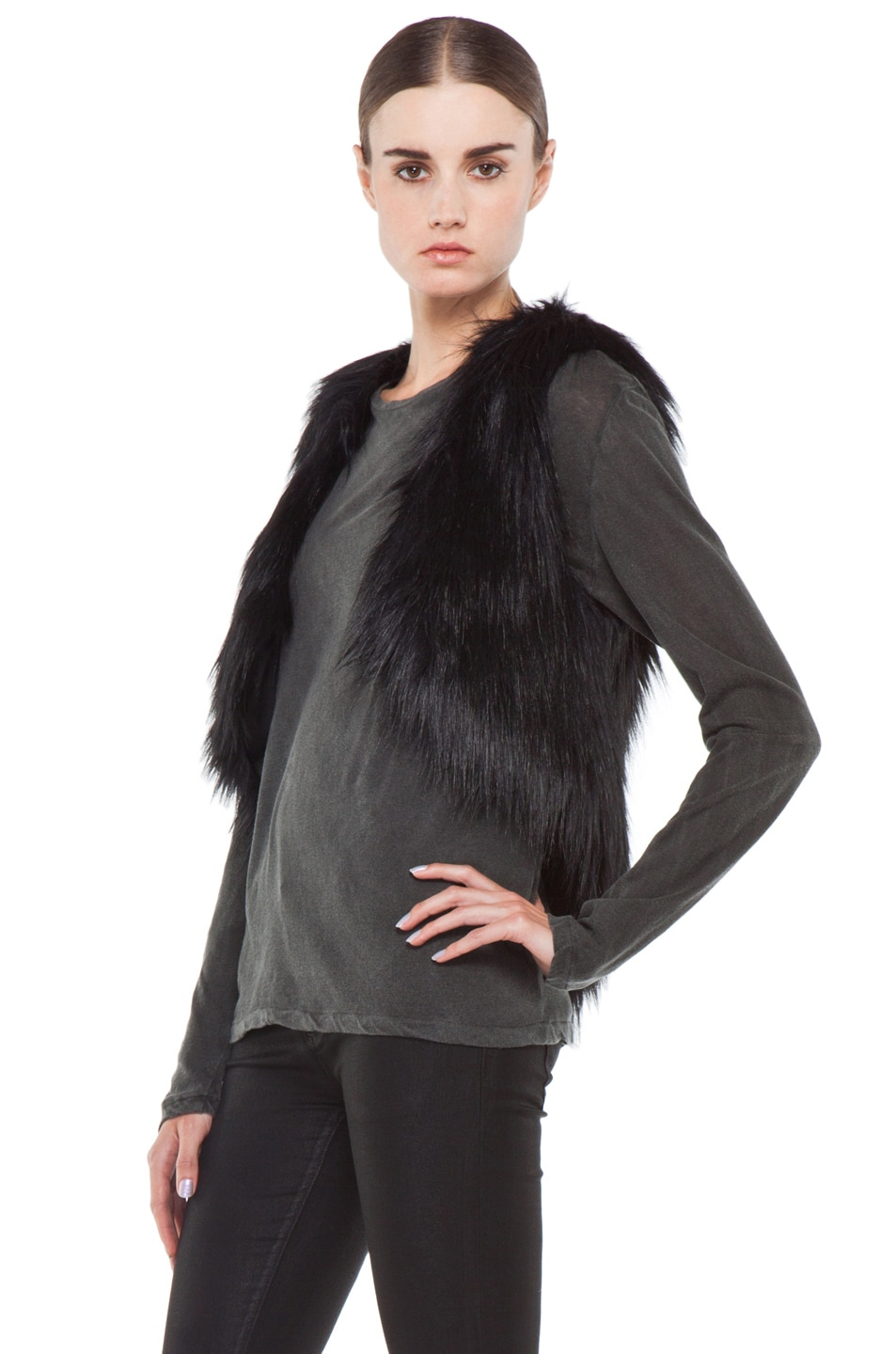 Image 3 of BSABLE Gina Vest in Black Fox