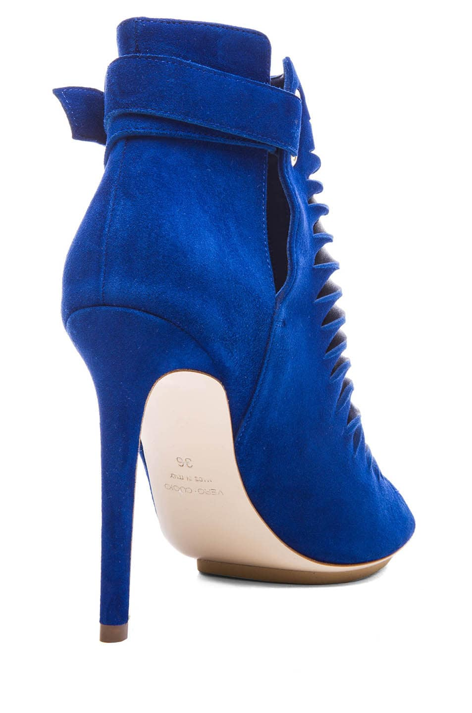 Image 3 of BURAK UYAN Suede and Lambskin Booties in Blue