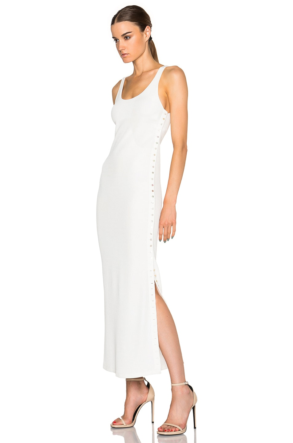 Image 2 of Calvin Klein Collection Fiana Structured Jersey Maxi Dress in White