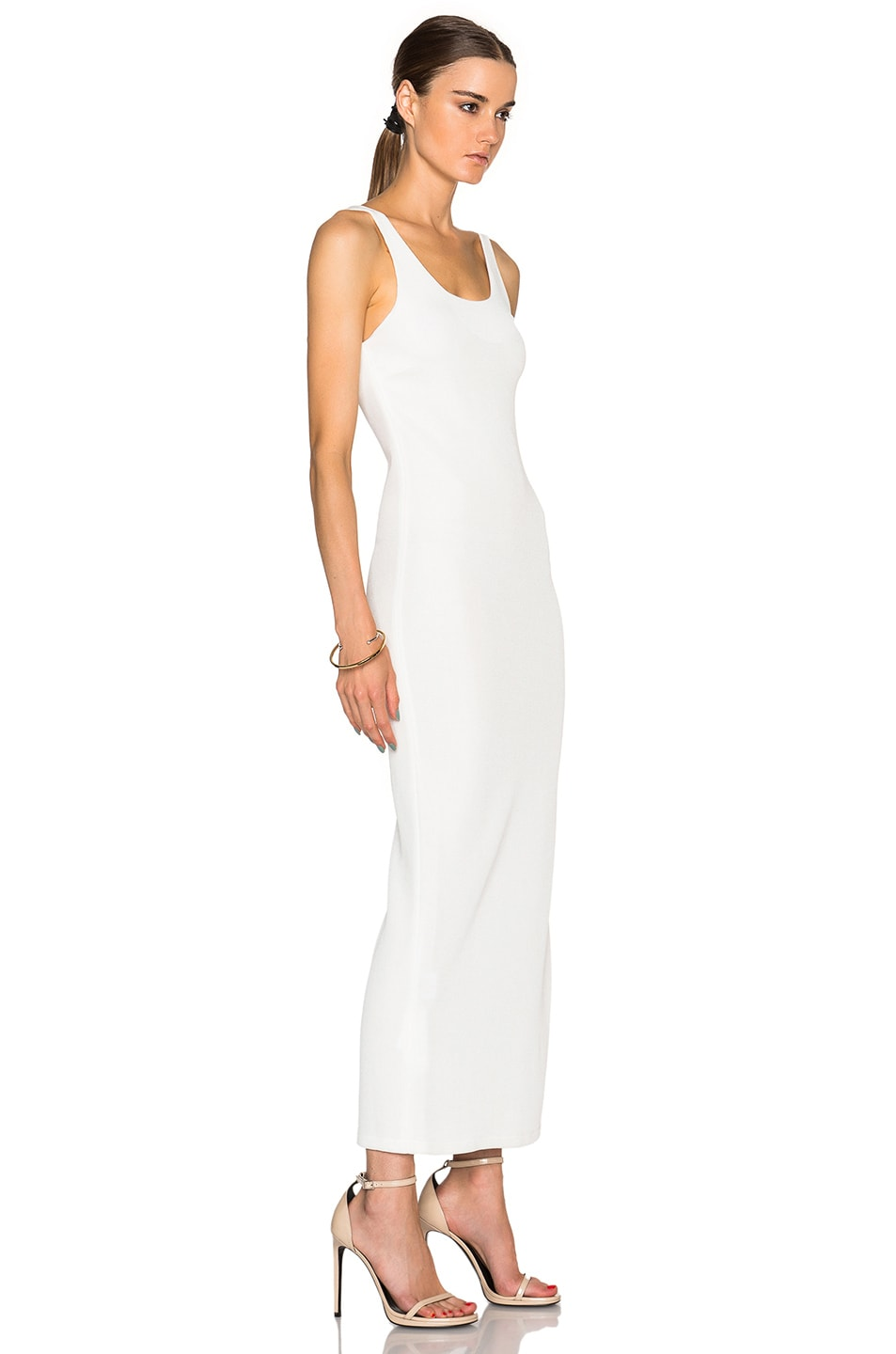 Image 3 of Calvin Klein Collection Fiana Structured Jersey Maxi Dress in White
