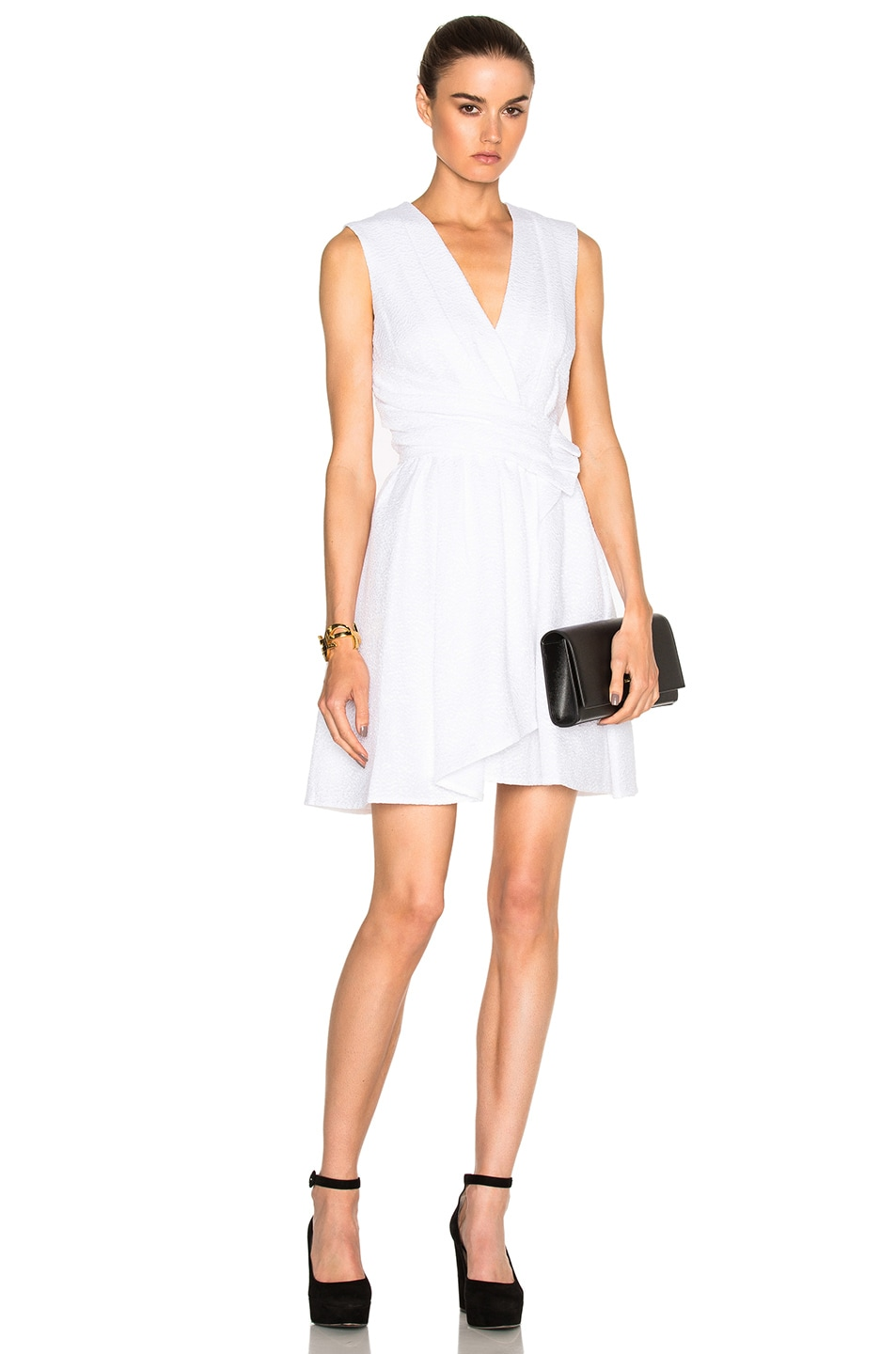 Image 1 of Carven Draped Dress in White