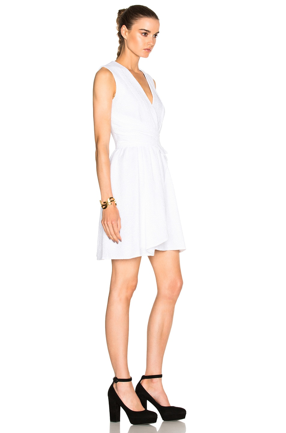 Image 3 of Carven Draped Dress in White